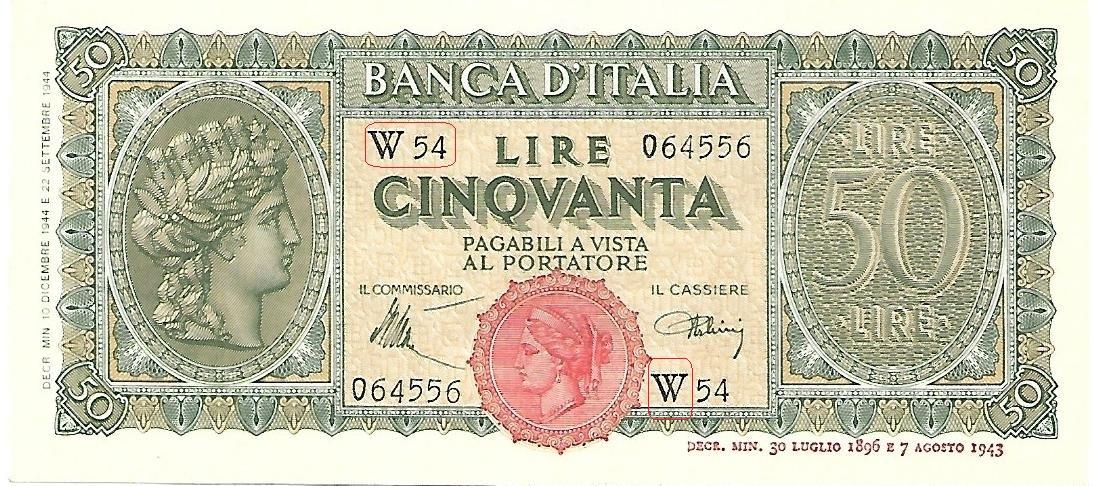 LE BANCONOTE DELLA LUOGOTENENZA DI UMBERTO II