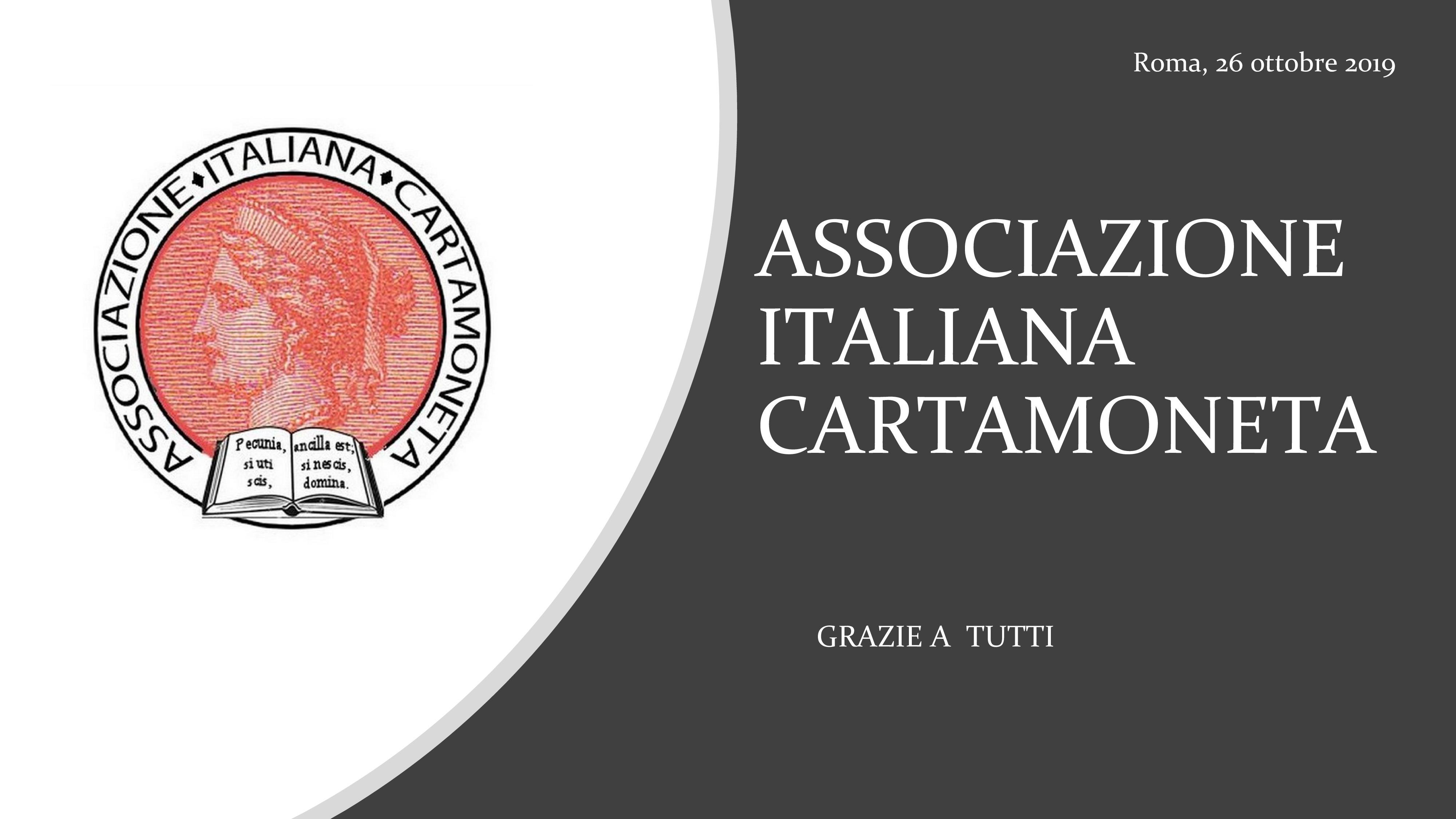 """""""CHARTA NUMMARIA"""" – 26 ottobre 2019 – Programma e Galleria"""